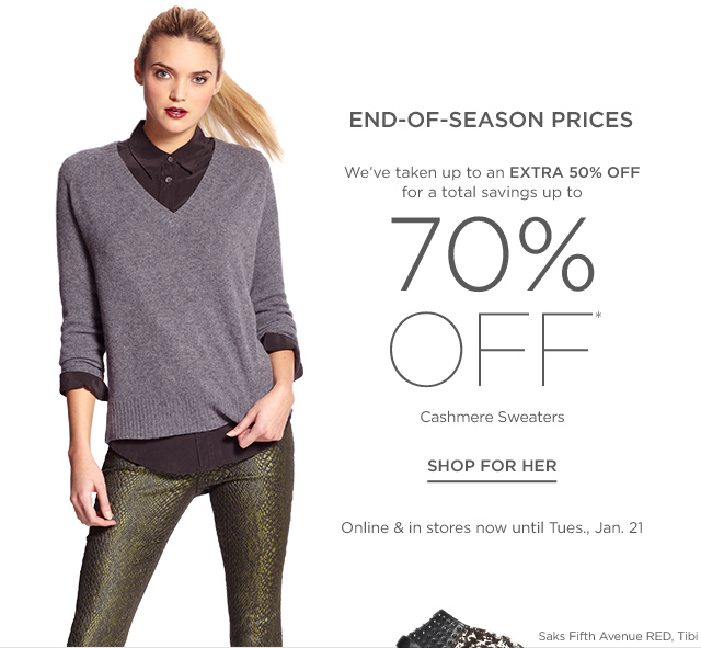 Up to 70% Off Cashmere Sweaters