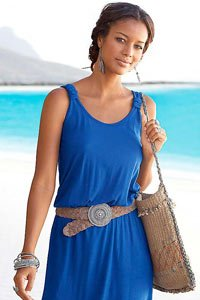Beachtime Royal Blue Racer Back Dress £25