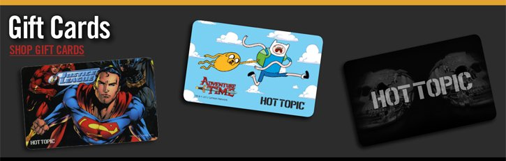 GIFT CARDS - SHOP GIFT CARDS
