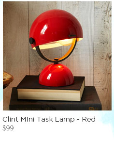 Clint Mini Task Lamp - Red