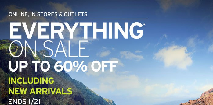Everything On Sale - Up To 60% OFF