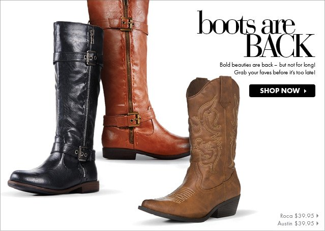 Boots Are Back - Shop Now