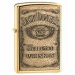 Zippo 254BJD428 Classic Jack Daniel's Emblem High Polish Brass Windproof Lighter