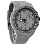 Swatch SUSM400 Unisex Grrrr Chrono Plastic Grey Dial Grey Strap Watch