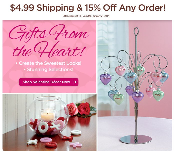 Discover Valentine Décor That's  Absolutely Engaging!