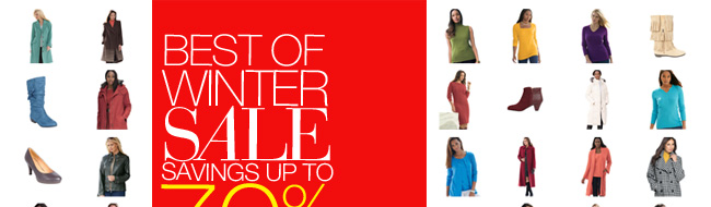 Best of Winter Sale, Savings Up to 70% Off