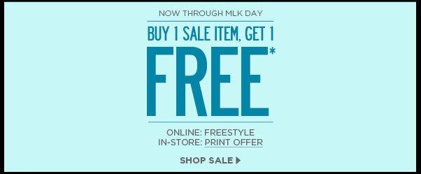 Buy 1 Sale Item, Get 1 Free