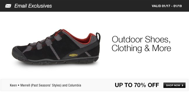 Outdoor Shoes, Clothing and More