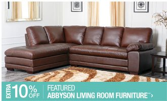 Extra 10% off Featured Abbyson Living Room Furniture**