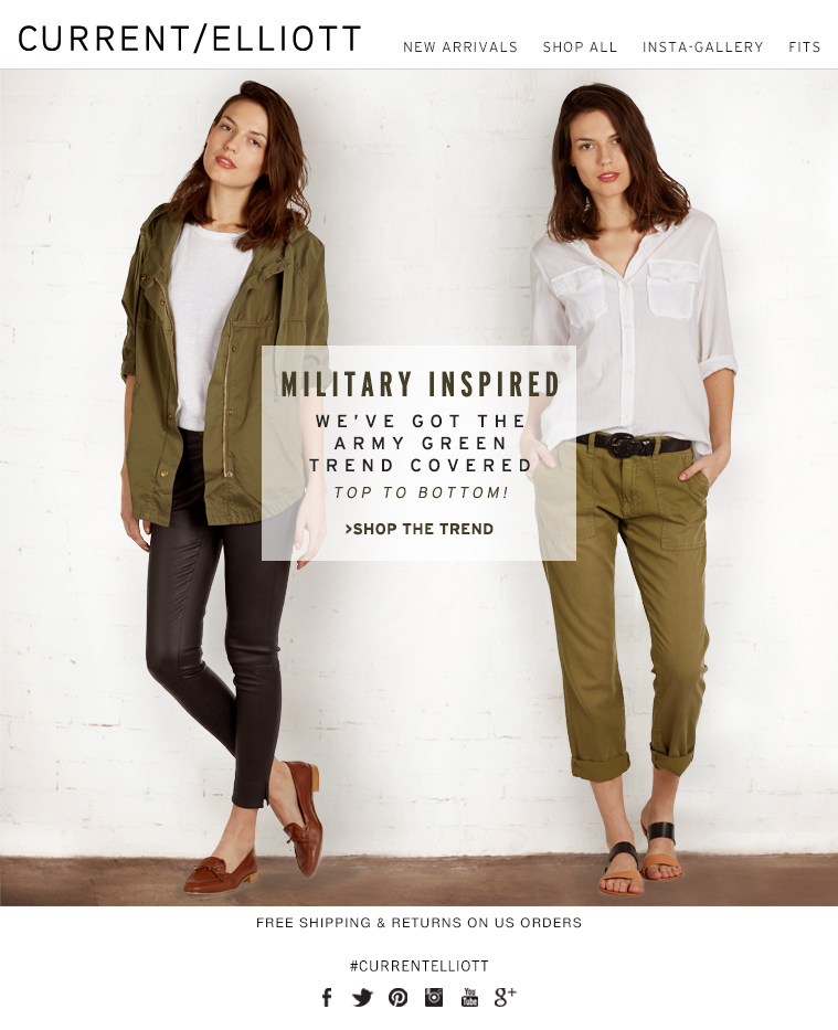 MILITARY INSPIRED WE'VE GOT THE ARMY GREEN TREND COVERED TOP TO BOTTOM! >SHOP THE TREND