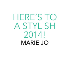 Here's to a stylish 2014