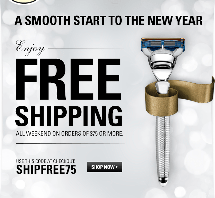 Enjoy Free Shipping All Weekend on Orders of $75 or More. Use code SHIPFREE75 at Checkout
