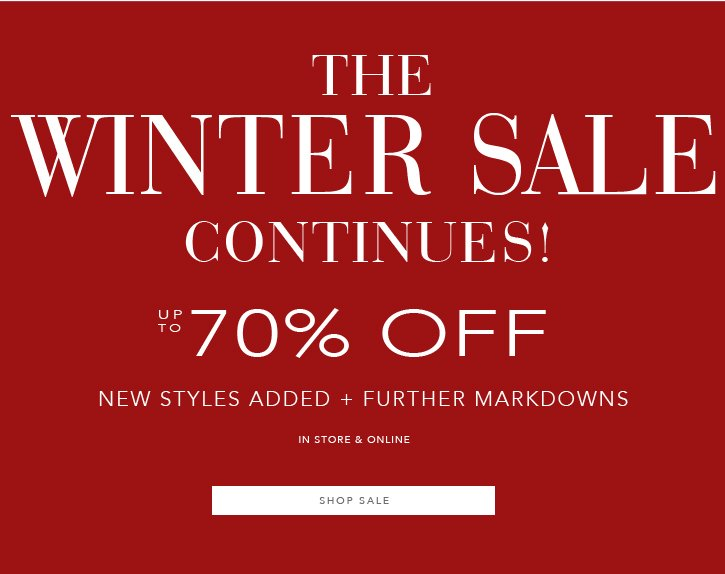 The Winter Sale Continues