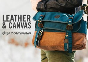 Shop Leather & Canvas: Bags & Accessories