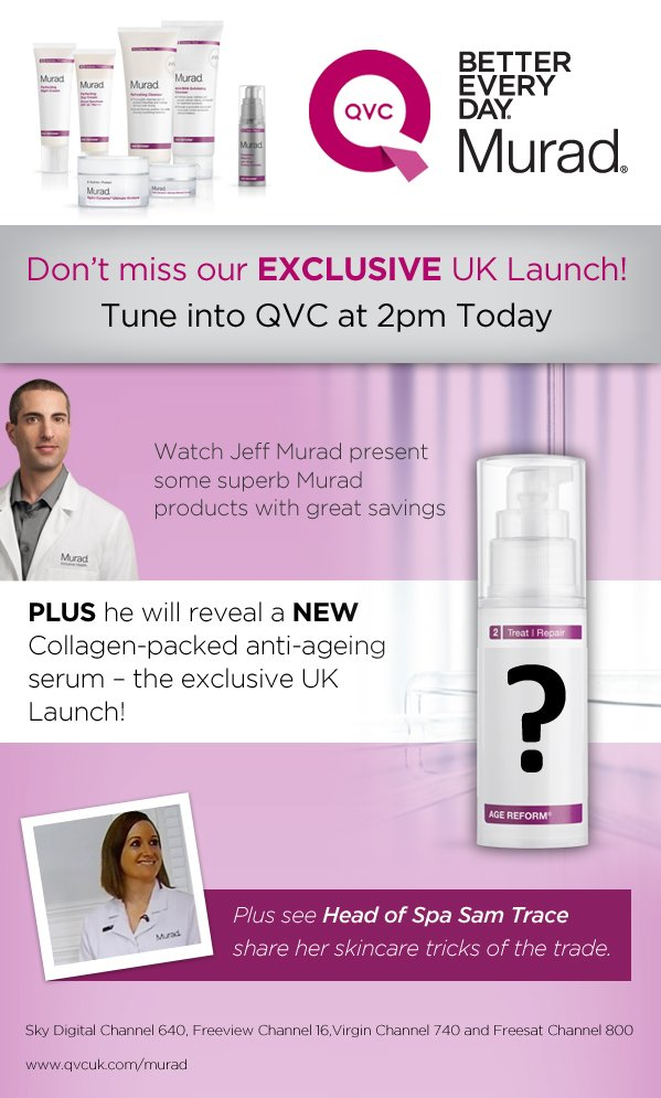 Don't miss our EXCLUSIVE Product Launch – on QVC at 2pm today!