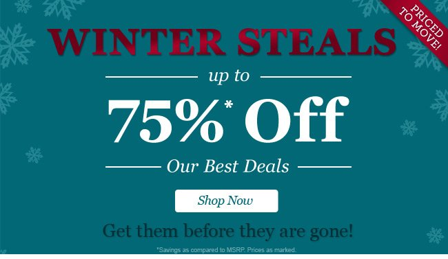 Steals. Up to 70% Off Our Best Deals! Shop Now.