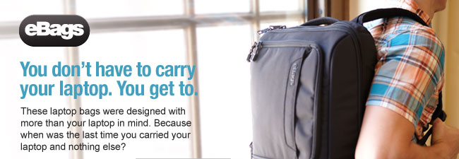 You Don't Have to Carry Your Laptop. You Get to. Shop Now/