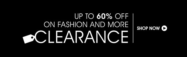 60% Off Clearance Sale on Fashion and More