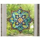CastleCreek™ Star Stained Glass Window Panel