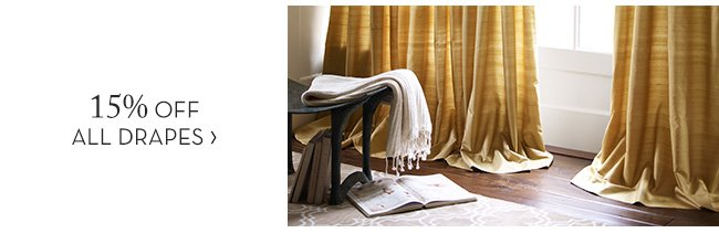 15% OFF ALL DRAPES