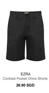 Ezra Contrast Pocket Chino Shorts