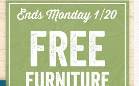 In Store Only! Free Furniture Delivery when you spend $700+