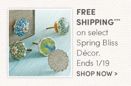 Free Shipping on Select Spring Bliss Décor. Ends 1/19.