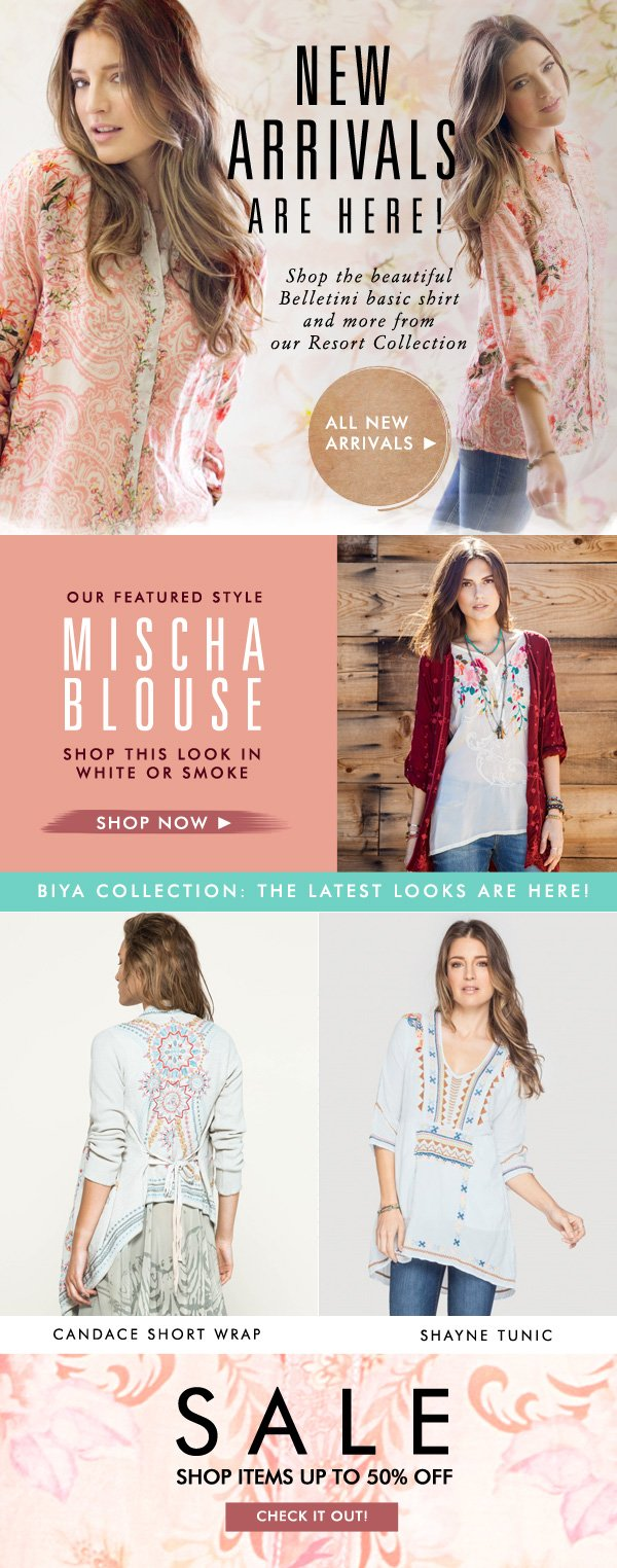 New Arrivals are Here! Shop our favorite new pieces