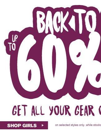 Shop Girls Back To School Sale