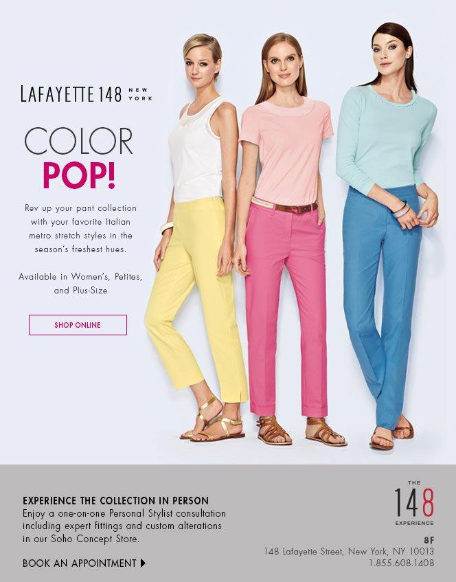Color POP! Metro Stretch Pants