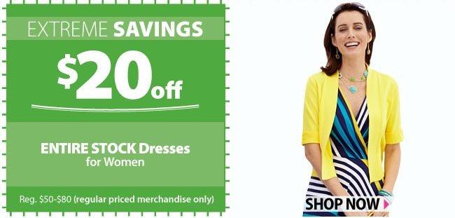 $20 off Dresses