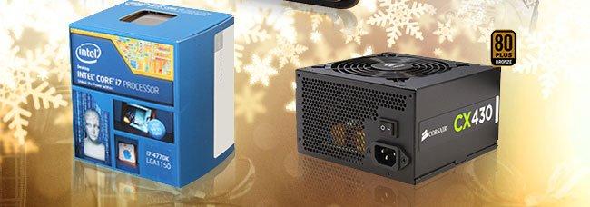 Intel Core i7-4770K Desktop Processor, Seagate 1TB 7200 RPM Internal Hard Drive, Belkin WeMo WiFi/Mobile Electronics Switch, CORSAIR 430W Power Supply, ADATA DashDrive 32GB Flash Drive
