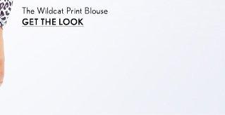 Wildcat Print Blouse