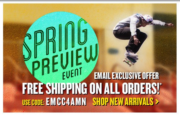 Email Exclusive Offer: Free Shipping On ALL Orders!*