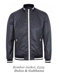 Bomber Jacket, £525 Dolce & Gabbana