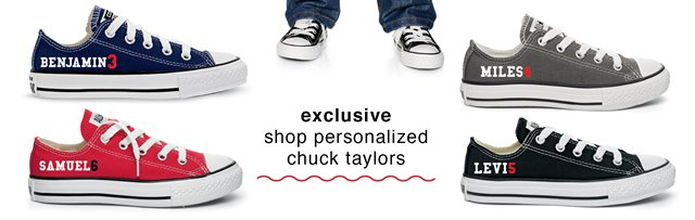 exclusive, shop personalized chuck taylors