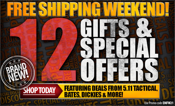 Free Shipping On Everything + 12 Free Gifts and Special Offers!