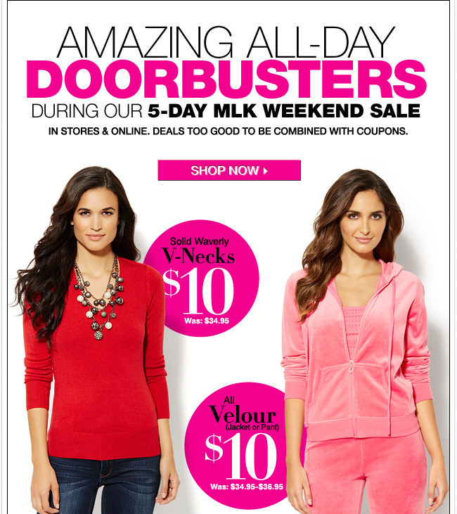 Amazing All Day Doorbusters!