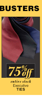 DOORBUSTER Executive Ties - 75% Off*