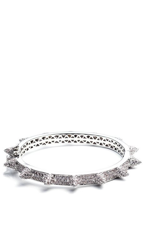 Pave Cone Hinged Bangle