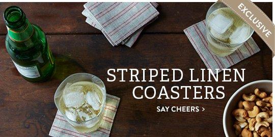 Striped Linen Coasters