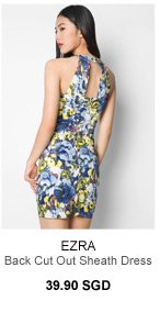 EZRA Back Cut Out Sheath Dress