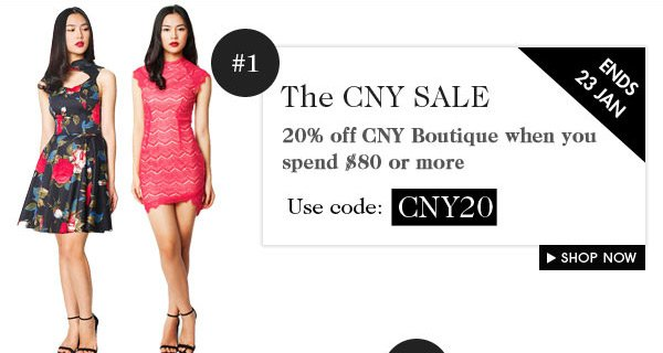 Get 20% off CNY collection