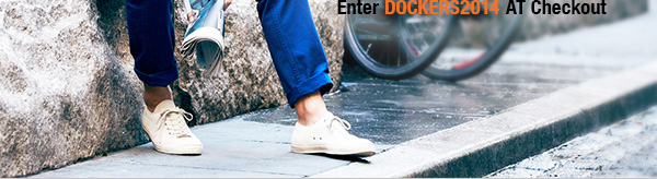 Enter DOCKERS2014 at Checkout
