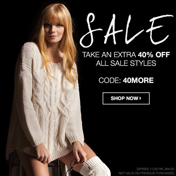 Take an extra 40% off all sale styles at Boutiquetoyou.com