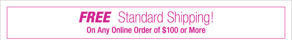 Free  Shipping on orders of $100 or more