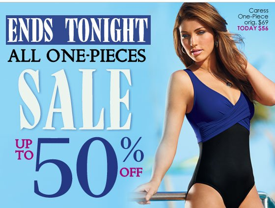 ENDS TONIGHT! Up to 50% OFF One-Piece Swimsuits!