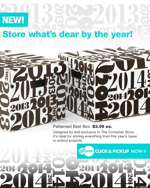 NEW!  Store what's dear by the year!