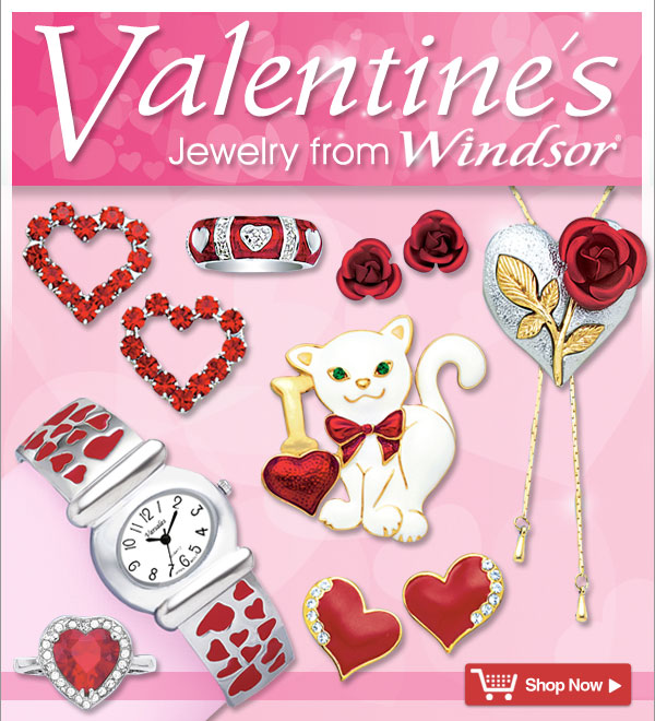 Valentine's Jewelry from Windsor®! - Shop Now >>
