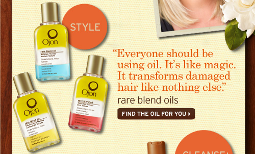 STYLE Everyone should be using oil It is like magic It transforms damaged hair like nothing else rare blend oils FIND THE OIL FOR YOU